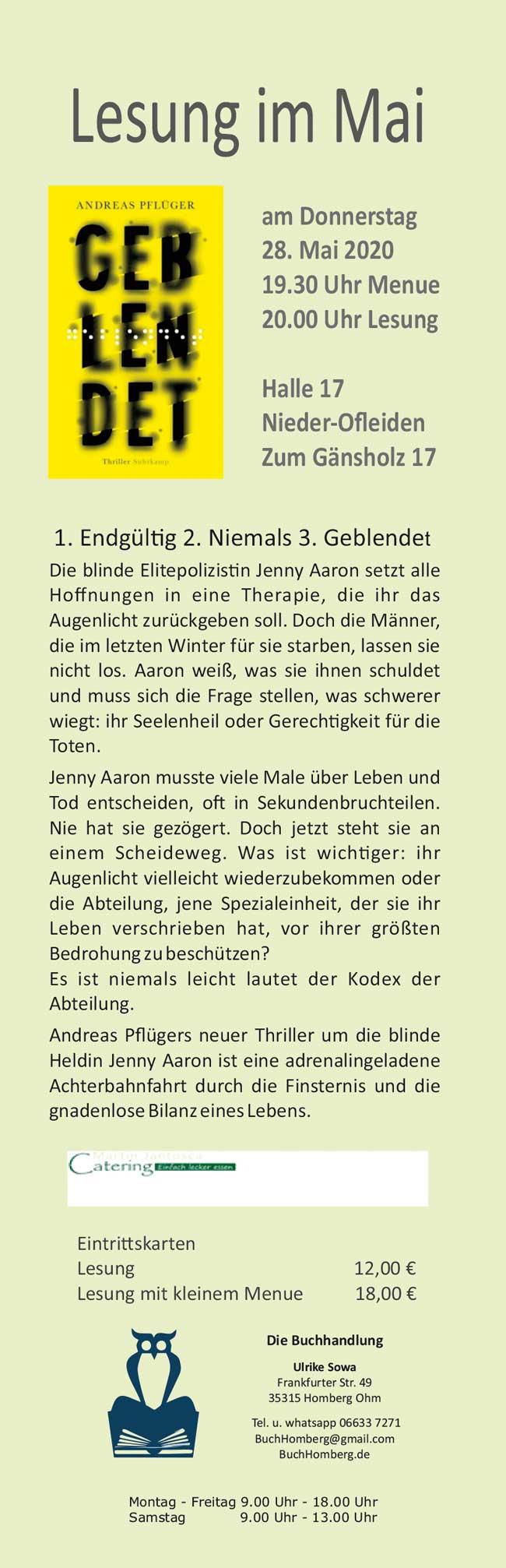 2020-Lesezeichen-Mai_Pflueger-Geblendet
